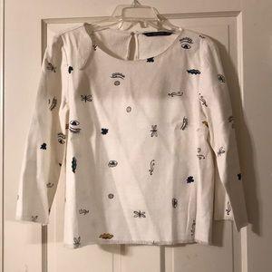 Zara 3/4 Linen Top